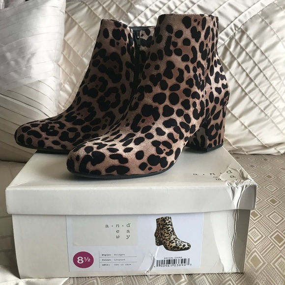 1f0cd4650bd2 A new day Shoes | Leopard Print Ankle Boots New In Box Size 8 12 ...